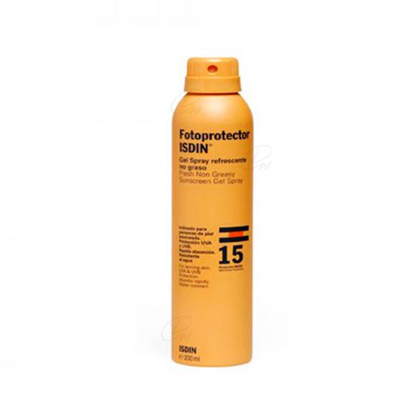FOTOPROTECTOR ISDIN SPF-15 GEL SPRAY TRANSPARENT